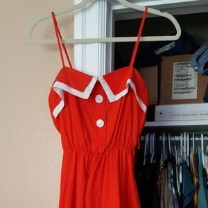 Vintage Bright Red Dress in Amazing Condition!